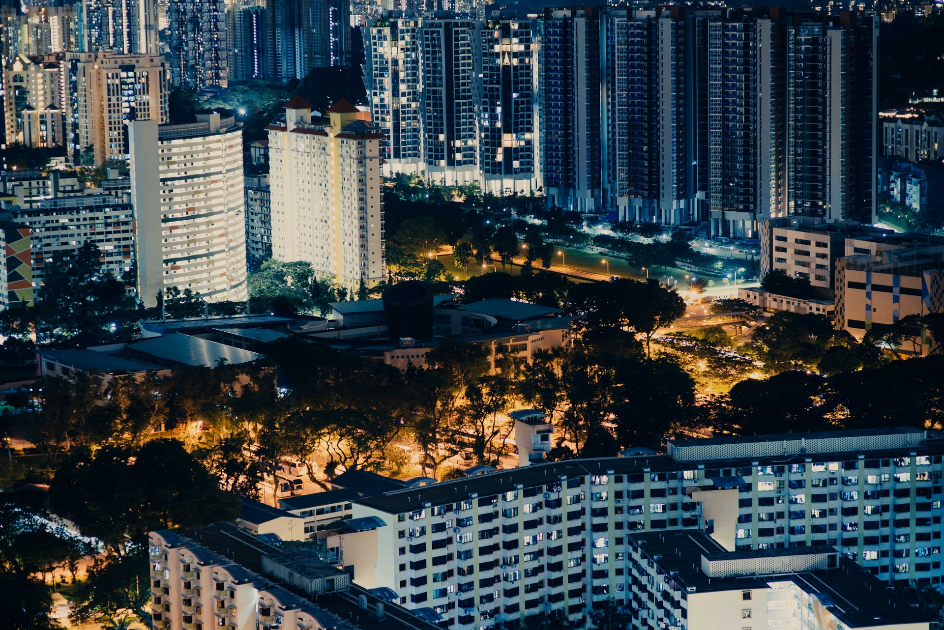 hoogbouw stadsoverzicht