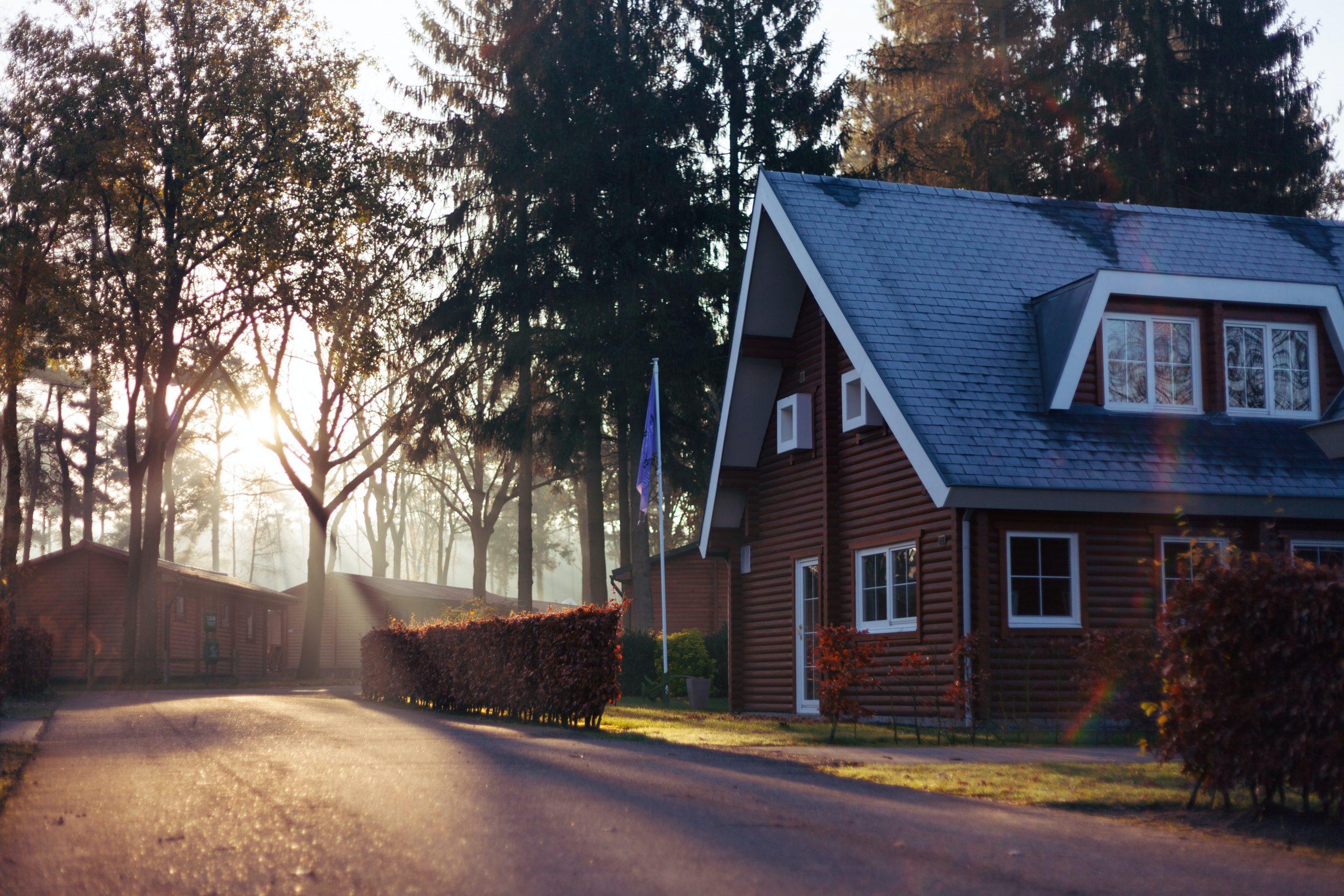 huis opkomende zon